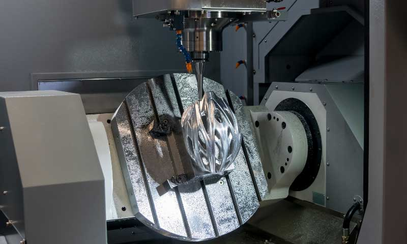 Five-axis machining complex shape
