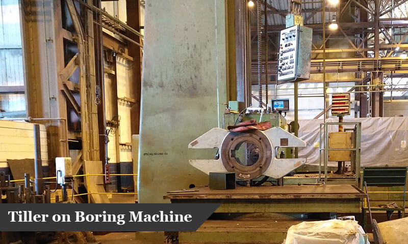 Tiller on Boring Machine